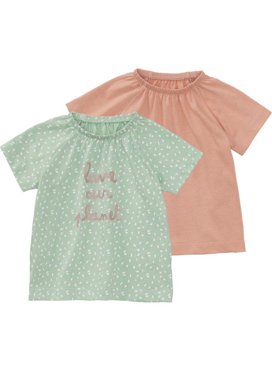 e8737cc1f 2-pack baby T-shirts mint green - HEMA