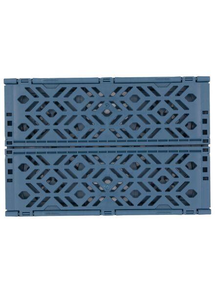 caisse pliante recyclée 24 x 16 x 9.5 cm - bleu bleu foncé 24 x 16 x 9,5 - 39892904 - HEMA