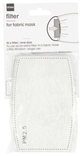 Image of HEMA 10 Filters For Cloth Masks - 5-ply