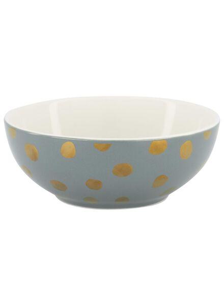 dish - 15 cm - green with gold-coloured dot - 9602090 - hema