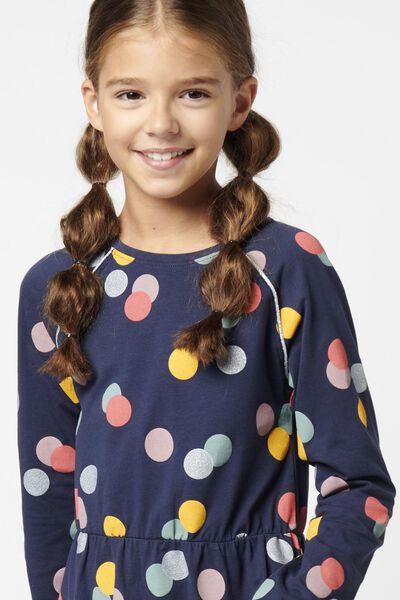 Kinder-Kleid, Punkte dunkelblau dunkelblau - 1000021185 - HEMA