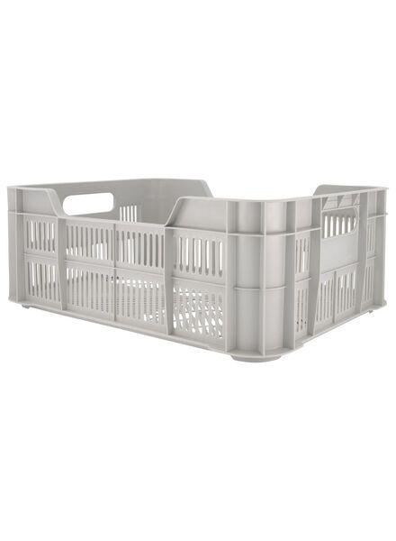 caisse 41 x 31 x 15 - plastique recyclé - grise - 39892915 - HEMA