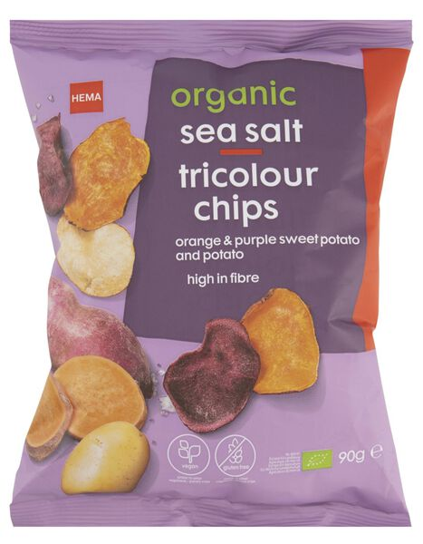 HEMA Chips Tricolores Bio Au Sel Marin 90g