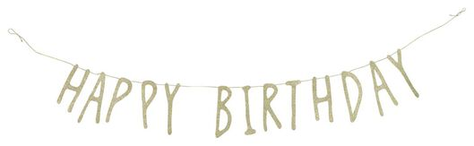 slinger happy birthday - 1.5 meter - 14280216 - HEMA