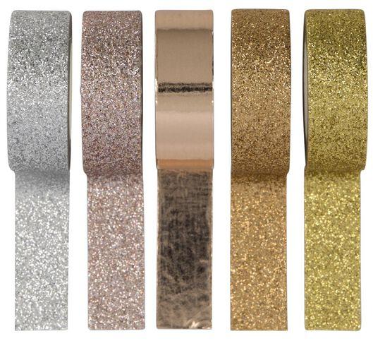 5 rouleaux de ruban adhésif washi - 14120046 - HEMA