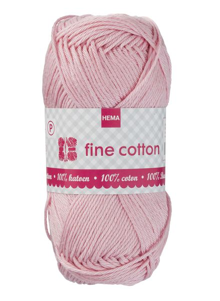 knitting yarn fine cotton - pink - 1400168 - hema