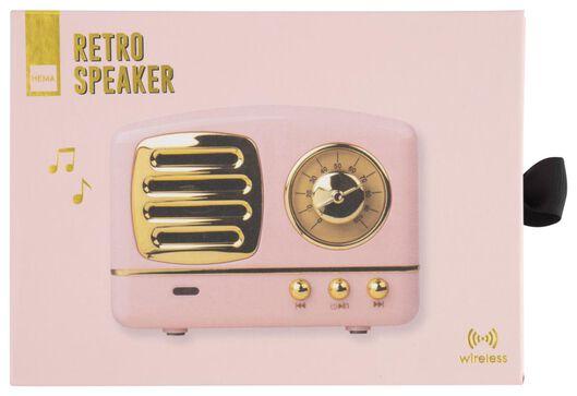 Retro-Lautsprecher, kabellos, rosa - 60350006 - HEMA