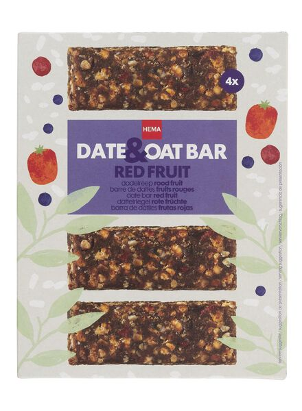 4 barre dattes fruits rouges - 10800071 - HEMA