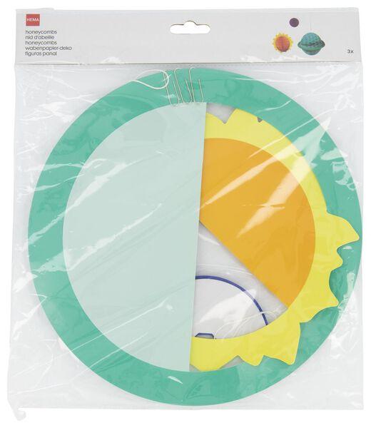 3 décorations en papier alvéolé - espace - 14210150 - HEMA