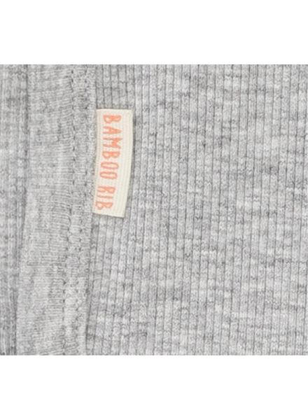 body croisé bambou stretch pour nouveau-né-prématuré gris chiné gris chiné - 1000013400 - HEMA