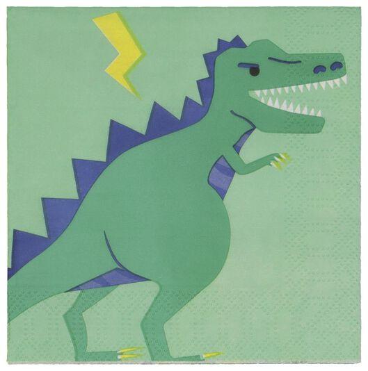 20er-Pack Servietten, 24 x 24 cm, Papier, Dinos - 14200406 - HEMA