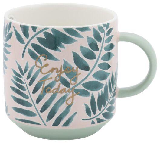mug Ø8cm 250ml feuilles - 61140123 - HEMA