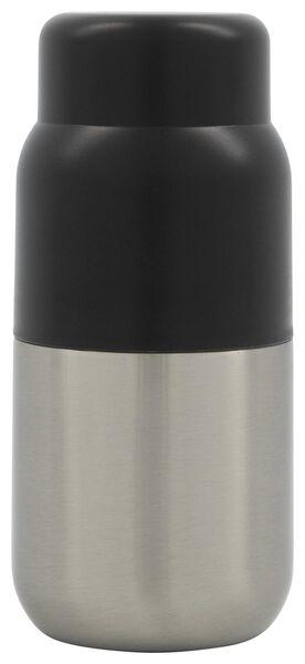 thermos jug 250ml stainless steel/black - 80610086 - hema