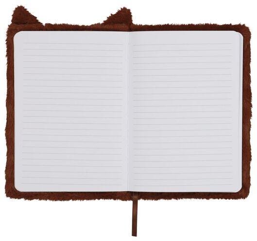 carnet A5 fluffy renard marron - 14195500 - HEMA