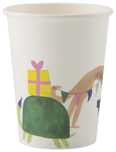 8 cardboard mugs 250 ml party animals - 14200382 - hema