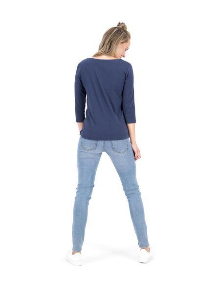 haut femme bleu foncé bleu foncé - 1000014837 - HEMA