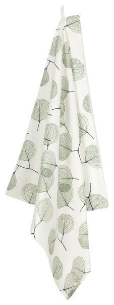 tea cloth 65x65 leaves - white/green - 5400139 - hema