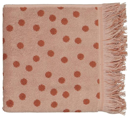 handdoek - 50 x 100 - zware kwaliteit - bruin gestipt - 5210122 - HEMA