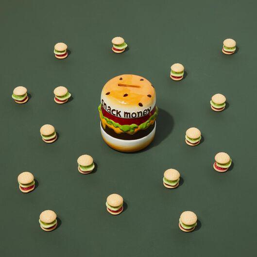 tirelire Ø9x12cm céramique hamburger - 14590476 - HEMA