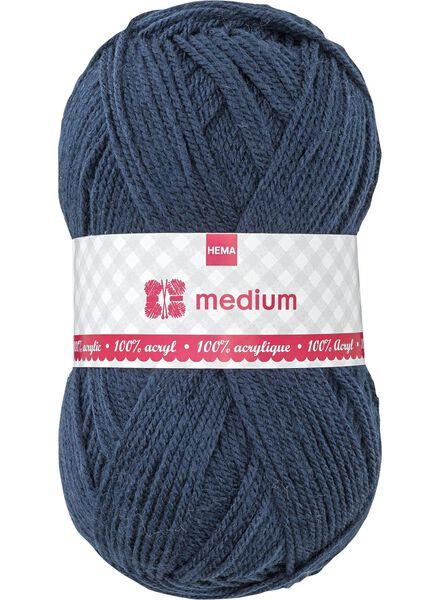 knitting yarn medium medium 100 g dark blue - 1400042 - hema