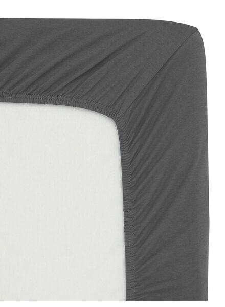 drap-housse - jersey coton - 180x200 cm - gris foncé - 5140007 - HEMA