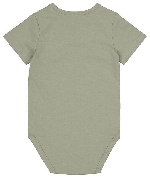 bodysuit organic cotton stretch olive olive - 1000017815 - hema