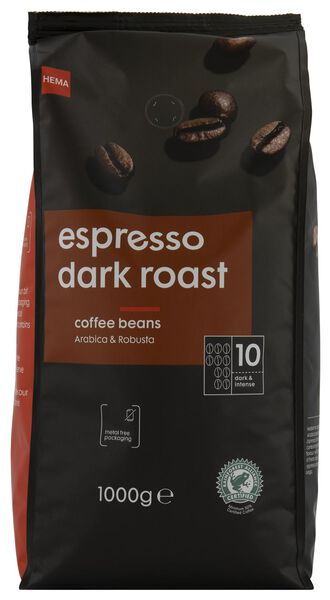 koffiebonen espresso dark roast - 1000 gram - 17160004 - HEMA
