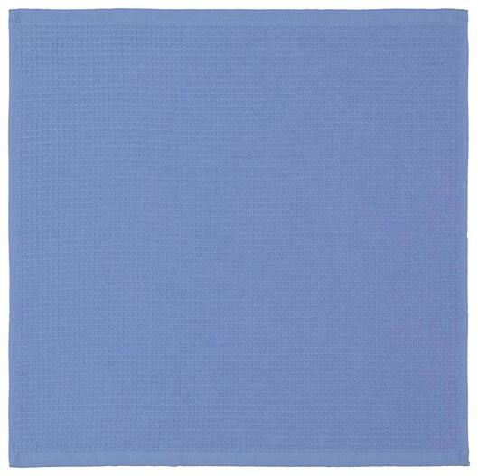 keukendoek - 50 x 50 - katoen wafel blauw - 5490042 - HEMA