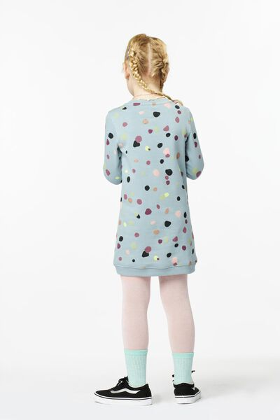 Kinder-Sweatkleid, Punkte, Glitter mintgrün mintgrün - 1000025433 - HEMA