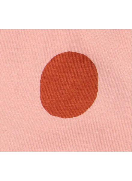 body croisé nouveau-né en coton biologique stretch rose rose - 1000015613 - HEMA
