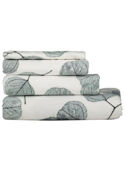 Serviettes de bain - velours - feuille blanc blanc - 1000015753 - HEMA