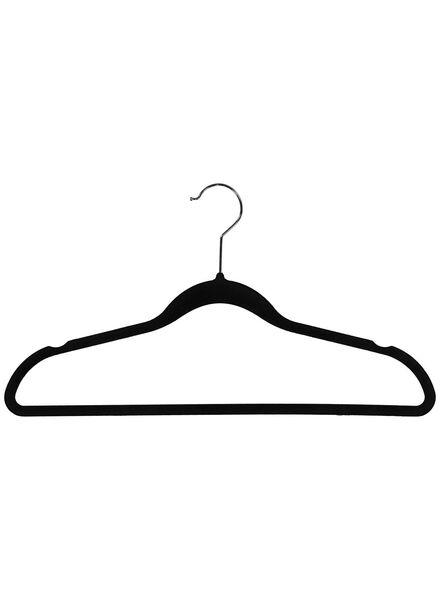 6 clothes hangers - black velour - 39891028 - hema
