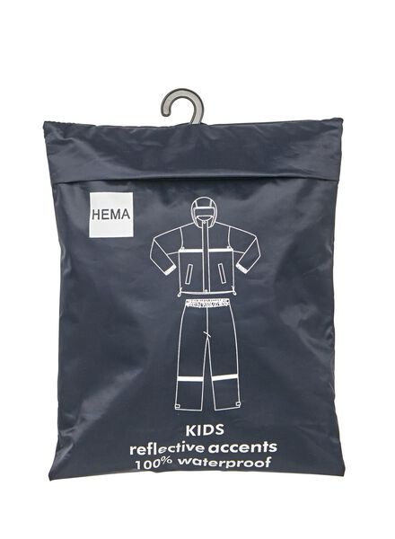 regenpak voor kinderen blauw blauw - 1000009300 - HEMA
