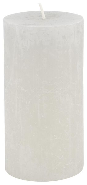rustic candle - 7x13 - light grey - 13502436 - hema