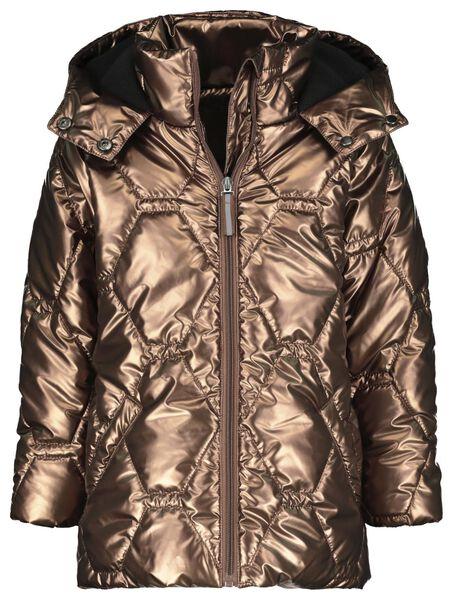 manteau enfant matelassé métallisé marron marron - 1000020514 - HEMA