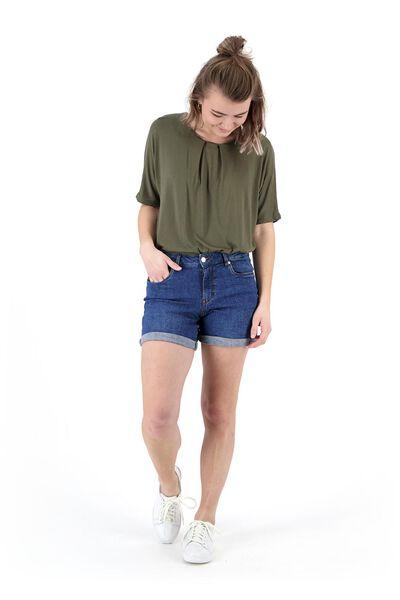 Hosen - HEMA Damen Jeansshorts Mittelblau  - Onlineshop HEMA