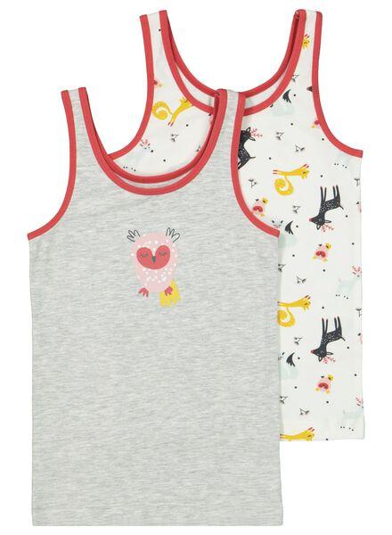 2er-Pack Kinder-Hemden graumeliert graumeliert - 1000016864 - HEMA