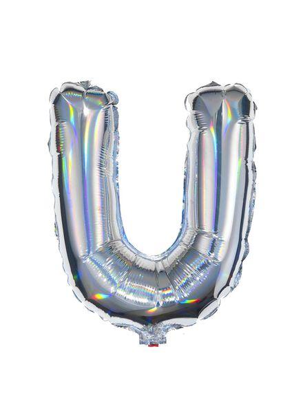 ballon alu lettre U - argenté - 14200223 - HEMA