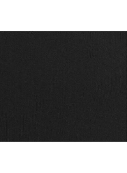 dames t-shirt biologisch katoen zwart zwart - 1000010400 - HEMA