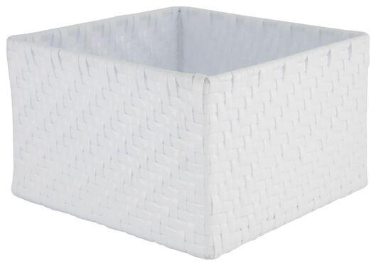 Aufbewahrungskorb, 20 x 20 x 12 cm, weiß - 39811060 - HEMA