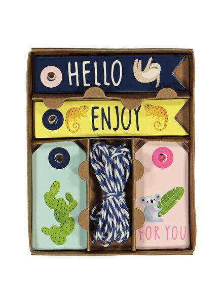 20 étiquettes pour cadeaux - 14700196 - HEMA