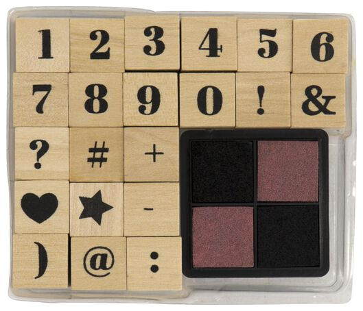 22-piece stamp set - 14800043 - hema