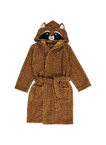peignoir enfant raton laveur marron marron - 1000014055 - HEMA
