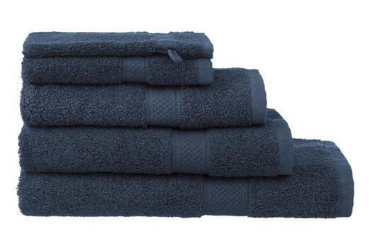 gant de toilette de qualité supérieure 16 x 21 - bleu jean denim gant de toilette - 5240178 - HEMA