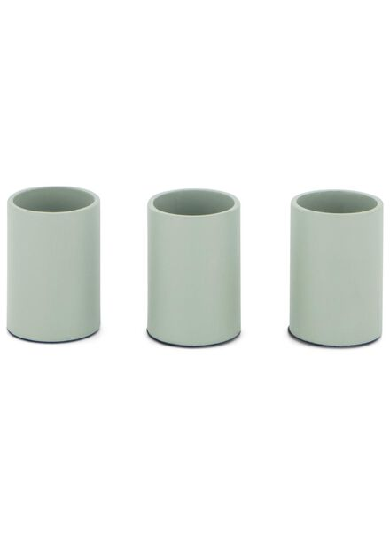 3 bougeoirs magnétiques - 3,5 x 2,3 - vert clair - 13392006 - HEMA