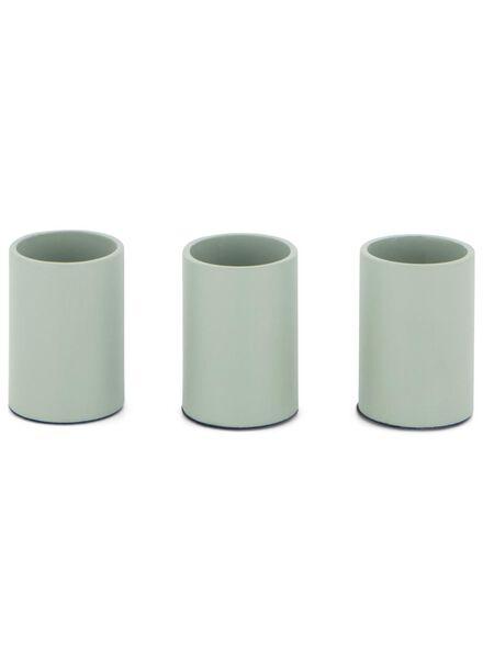 3 candle-holders magnetic - 3.5x2.3 - light green - 13392006 - hema