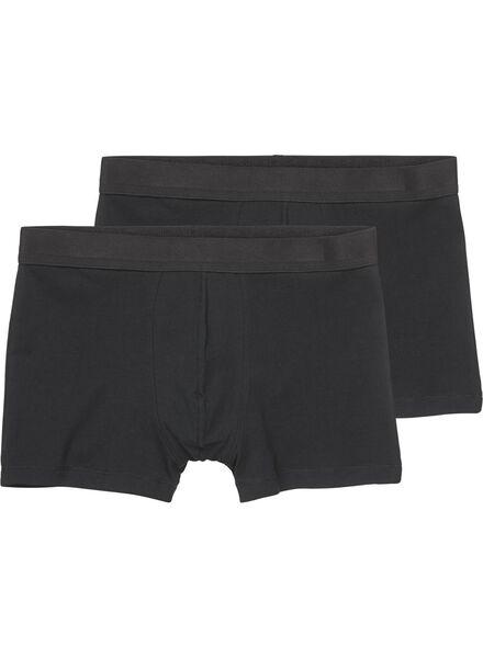 Image of HEMA 2-pack Men's Boxer Shorts Black (black)