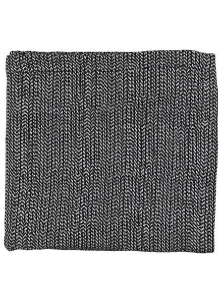 serviette - 47 x 47 - coton chambray - noir/blanc - 5300071 - HEMA