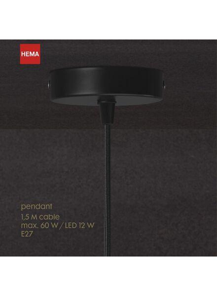 cordon suspension - 1.5 m - noir - 20020092 - HEMA