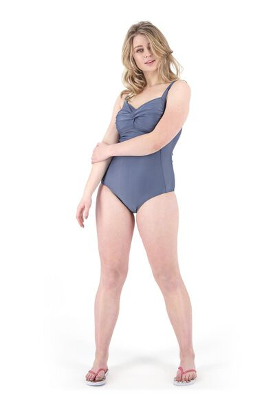 women's swimsuit medium control grey XXL - 22310115 - hema